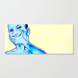 No, I don't even know your name Canvas Print