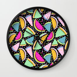 Slices of Life in Watermelon Wall Clock