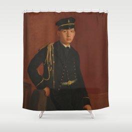 Achille De Gas in the Uniform of a Cadet Shower Curtain