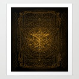 Dark Matter - Gold - By Aeonic Art Art Print