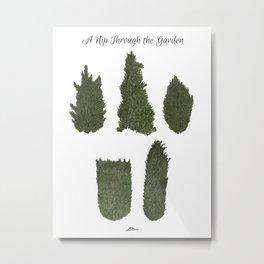 A nip through the garden Metal Print