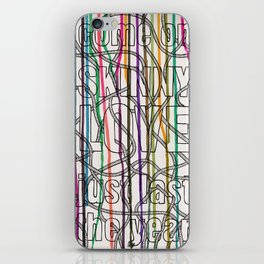 Skinny Love iPhone Skin