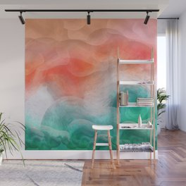 """""""Coral sand beach and tropical turquoise sea"""" Wall Mural"""