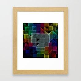 Abstract digital background Framed Art Print