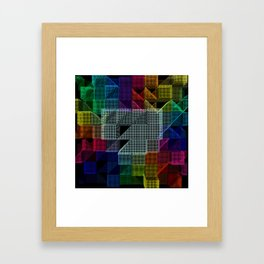 Abstract digital background Framed Art Print