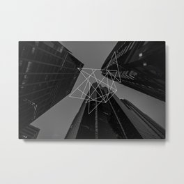 Grey City Metal Print