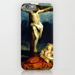 Eugene Delacroix - Saint Mary Magdalene At The Foot Of The Cross - Digital Remastered Edition iPhone Case