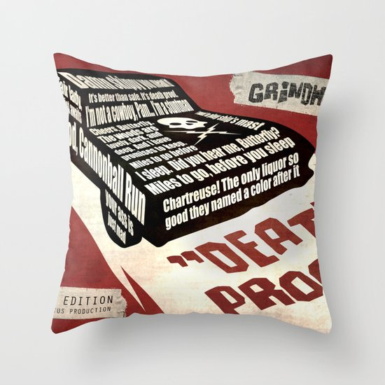 Deathproof redux Throw Pillow