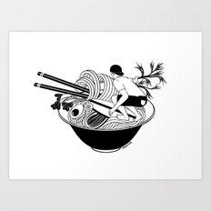 Noodle Wave Art Print