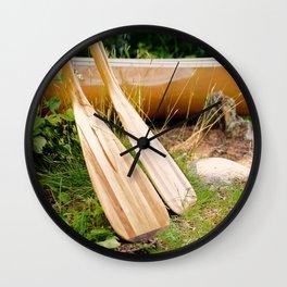 Canoe Paddles Boundary Waters Wall Clock