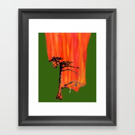 Tree on Fire Framed Art Print