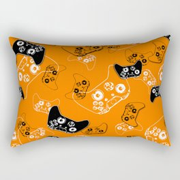 Video Game Orange Rectangular Pillow