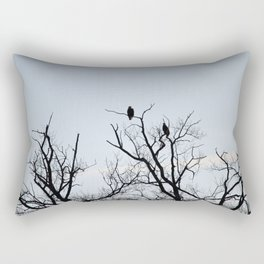 Pair of Bald Eagles keeping watch Rectangular Pillow