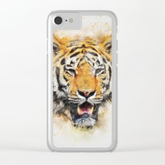 Tiger Abstract Clear iPhone Case
