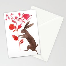 Rabbit & Flowers Stationery Cards
