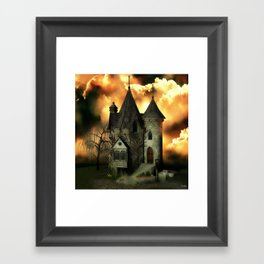 Stranded Manor Framed Art Print