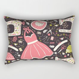 Vintage Sewing Rectangular Pillow