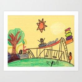 Water Play Park Art Print