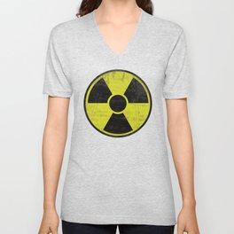 Grunge Radioactive Sign Unisex V-Neck