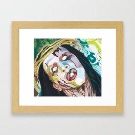 Full color Holy Wood Framed Art Print