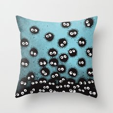 Sootballs Throw Pillow