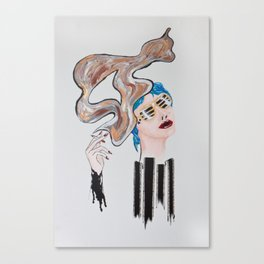 Veronica Sawyer Smokes Canvas Print