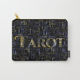 Tarot Major Arcana Word Art  Gold and Gemstone Carry-All Pouch