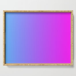 Blue And Pink Gradient Pattern Serving Tray