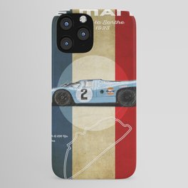 Le Mans Racetrack Vintage iPhone Case