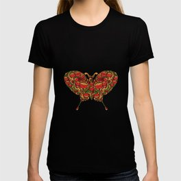 The Butterfly in Khokhloma T-shirt