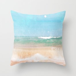 Sea and Moon Throw Pillow