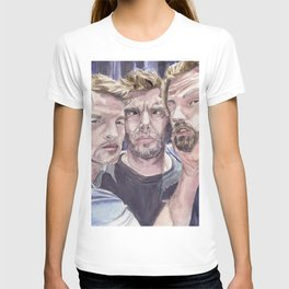 Team Free Will 2.: Misha Collins; Jared Padalecki and Jensen Ackles, watercolor painting T-shirt