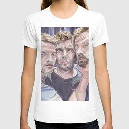 Team Free Will 2.: Misha Collins; Jared Padalecki and Jensen Ackles, watercolor painting T-shirt