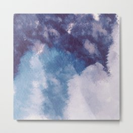 Forest and sky watercolor Abstract V13 Metal Print