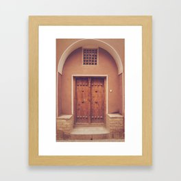 Abyaneh Door #3 (from the series 'Iranian Doors') Framed Art Print