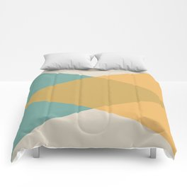 Mid Century - Yellow and Blue Comforters