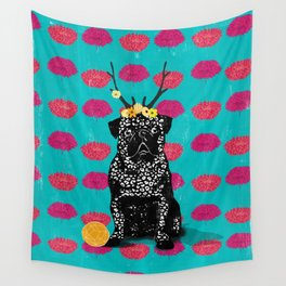 Pug (the bright life) Wall Tapestry