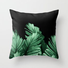 Green Banana Leaves Dream #2 #tropical #decor #art #society6 Throw Pillow