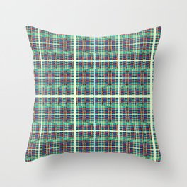 plaidish Throw Pillow