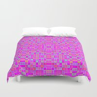 candy Duvet Covers featuring Candy Colored Pixels by 2sweet4words Designs
