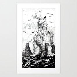 Tarot - The Tower Art Print