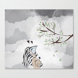a chat Canvas Print