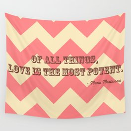 Chevron Love Wall Tapestry