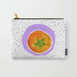Pretty Persimmon Print Carry-All Pouch