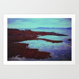 Azurean Expanse Art Print