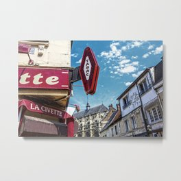 Bar Tabac at the cathedral Metal Print