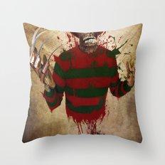 A Nightmare on my Street Throw Pillow