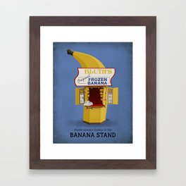 Banana Stand Framed Art Print