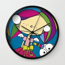 fairy princess and chicken unicorn Wall Clock