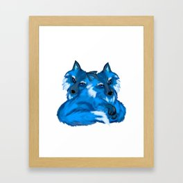 Twin Fox Framed Art Print